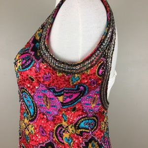 Oleg Cassini Dresses - ⭐️HP⭐️ VTG $522 Oleg Cassini Beaded Dress Silk